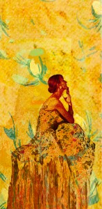 Yellow Wallpaper Woman