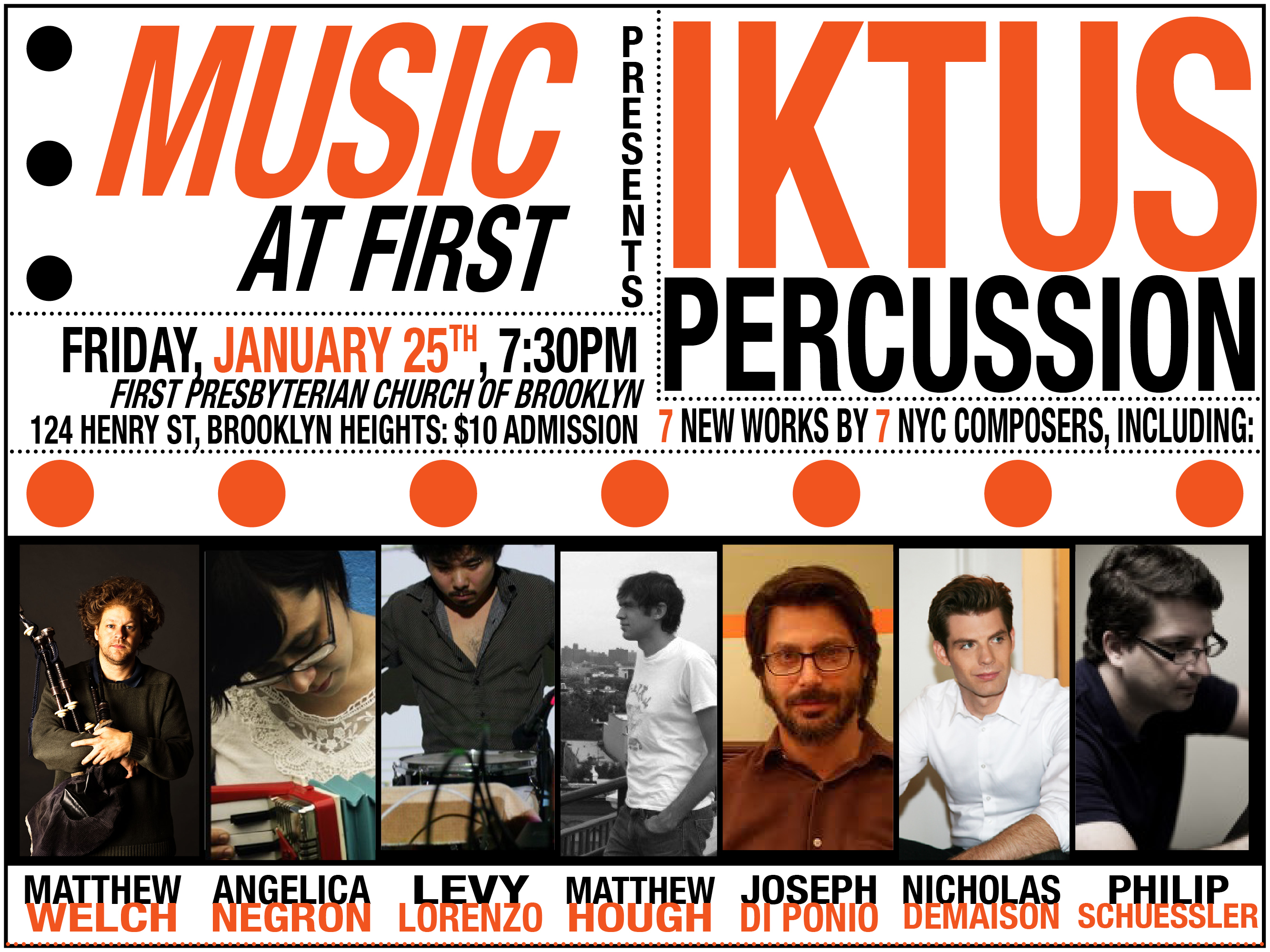 Iktus Percussion Music at First Jan 25