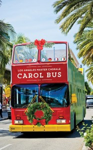 Los Angeles Master Chorale Caroling Bus
