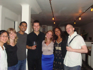 After the performance of the original 10 minute section at Journaling. From left to right: Dongmyung Ahn, Amy Kauffman, Jeff Ziegler, Cornelius Dufallo, Paola Prestini, Alanna Maharajh Stone, Corey Dargel.