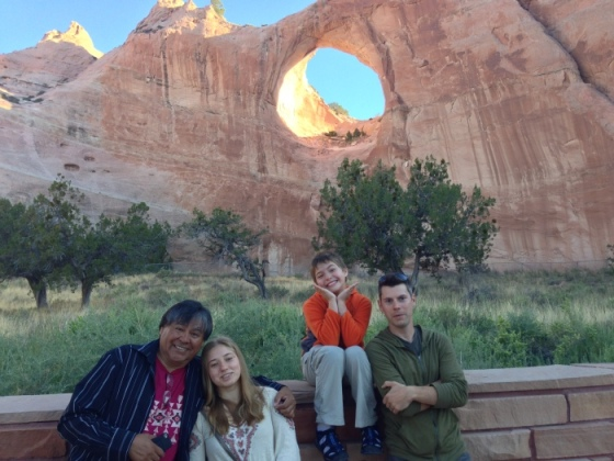 At Window Rock (of the actual rock) is with ETHEL's Kip Jones, dear friend James Bilagody, Jesse and Fiona Sherman.