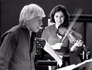 Giovanni Antonini and Patricia Kopatchinskaja by Leonardo Aloi via Alpha Classics
